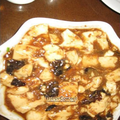 """Photo of Vegetarian Life Style - Zao Zi Shu - HuaiHai  by <a href=""""/members/profile/laya_bz"""">laya_bz</a> <br/>Tofu with Agaric mushroom and mockmeat 'floss' <br/> July 7, 2010  - <a href='/contact/abuse/image/14/5081'>Report</a>"""