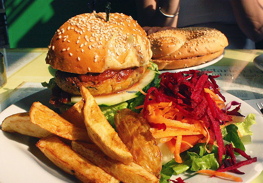 """Photo of Bookworm Cafe  by <a href=""""/members/profile/veggiewings"""">veggiewings</a> <br/>Wholesome Tofu Burger <br/> October 26, 2016  - <a href='/contact/abuse/image/16/194551'>Report</a>"""