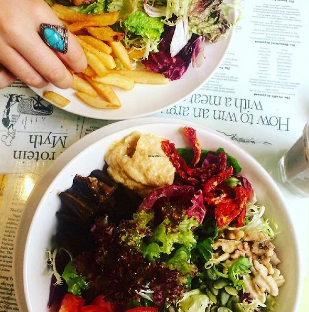 """Photo of Bookworm Cafe  by <a href=""""/members/profile/kay1abear"""">kay1abear</a> <br/>salad and bean burger <br/> July 10, 2016  - <a href='/contact/abuse/image/16/194553'>Report</a>"""