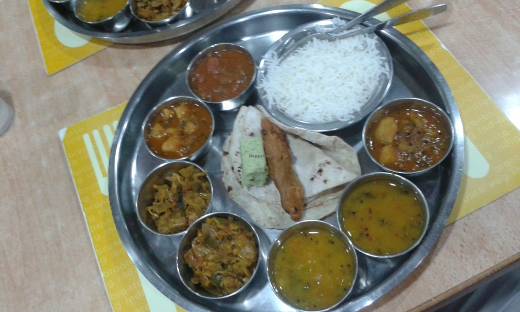 """Photo of Branto Pure Indian Vegetarian Club  by <a href=""""/members/profile/Stevie"""">Stevie</a> <br/>Thali <br/> August 21, 2015  - <a href='/contact/abuse/image/17/114555'>Report</a>"""