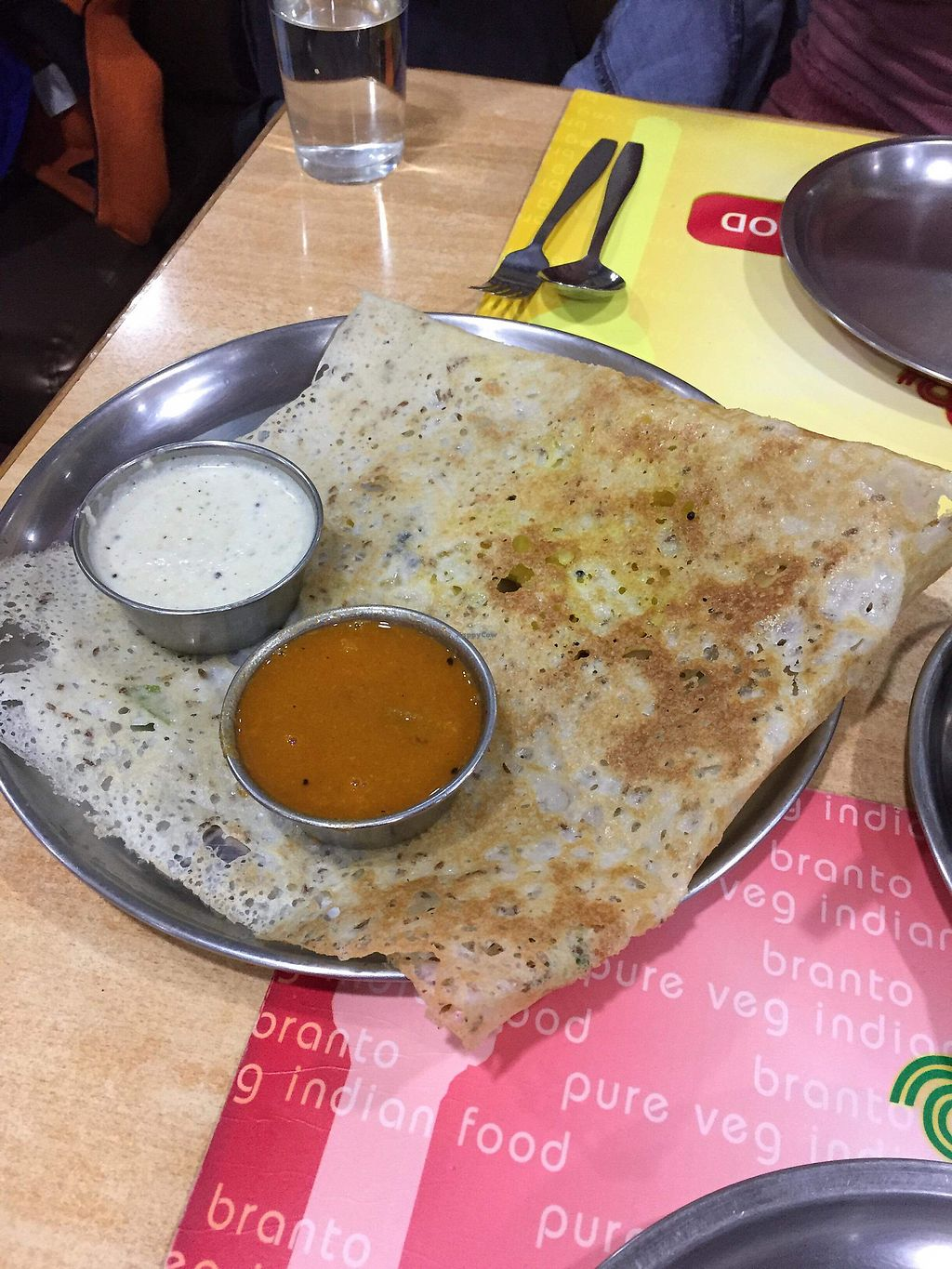 """Photo of Branto Pure Indian Vegetarian Club  by <a href=""""/members/profile/kiki93"""">kiki93</a> <br/>No. 24  Dosa <br/> January 1, 2018  - <a href='/contact/abuse/image/17/341621'>Report</a>"""