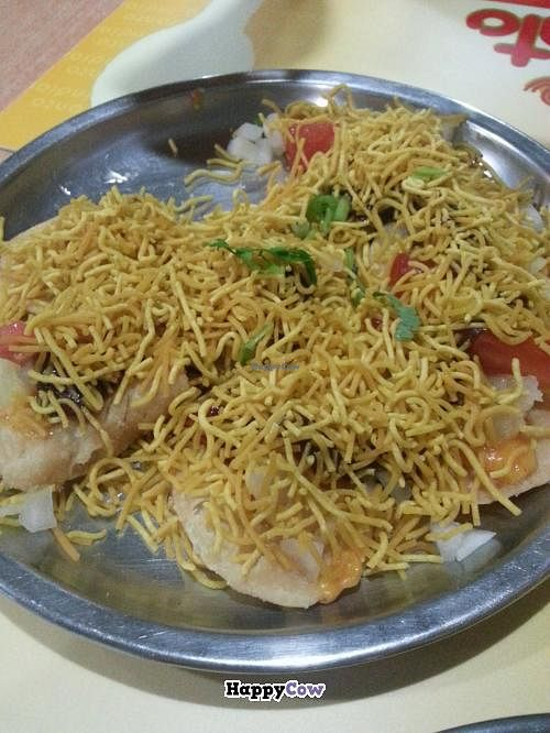 """Photo of Branto Pure Indian Vegetarian Club  by <a href=""""/members/profile/BBanSunWuKong"""">BBanSunWuKong</a> <br/>Sev puri (lightly spicy) <br/> August 19, 2013  - <a href='/contact/abuse/image/17/53466'>Report</a>"""