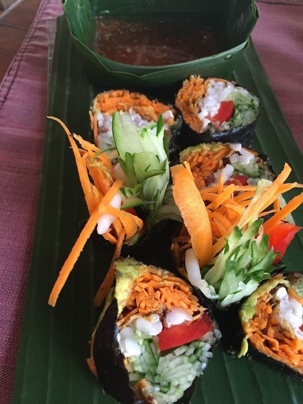 """Photo of Ubud Sari Health Resort  by <a href=""""/members/profile/Eefie"""">Eefie</a> <br/>Raw sushi <br/> May 31, 2017  - <a href='/contact/abuse/image/59/264387'>Report</a>"""