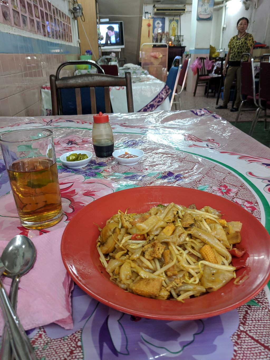 """Photo of Happy Realm Vegetarian Food Centre  by <a href=""""/members/profile/NabilFadai"""">NabilFadai</a> <br/>Vegan char kuey teow <br/> May 17, 2018  - <a href='/contact/abuse/image/136/400800'>Report</a>"""