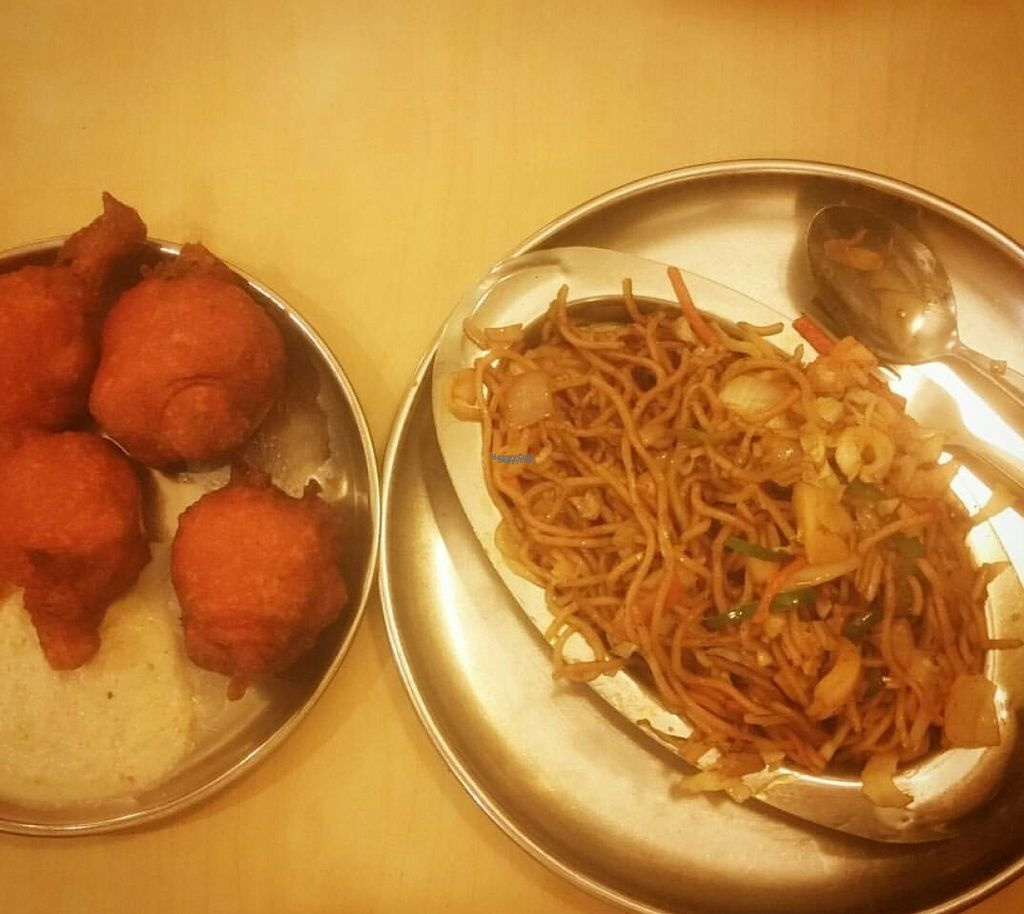 """Photo of Woodlands  by <a href=""""/members/profile/Without_Cruelty_Blog"""">Without_Cruelty_Blog</a> <br/>Chilli Garlic Noodles with Bahjis  <br/> November 2, 2016  - <a href='/contact/abuse/image/141/186045'>Report</a>"""