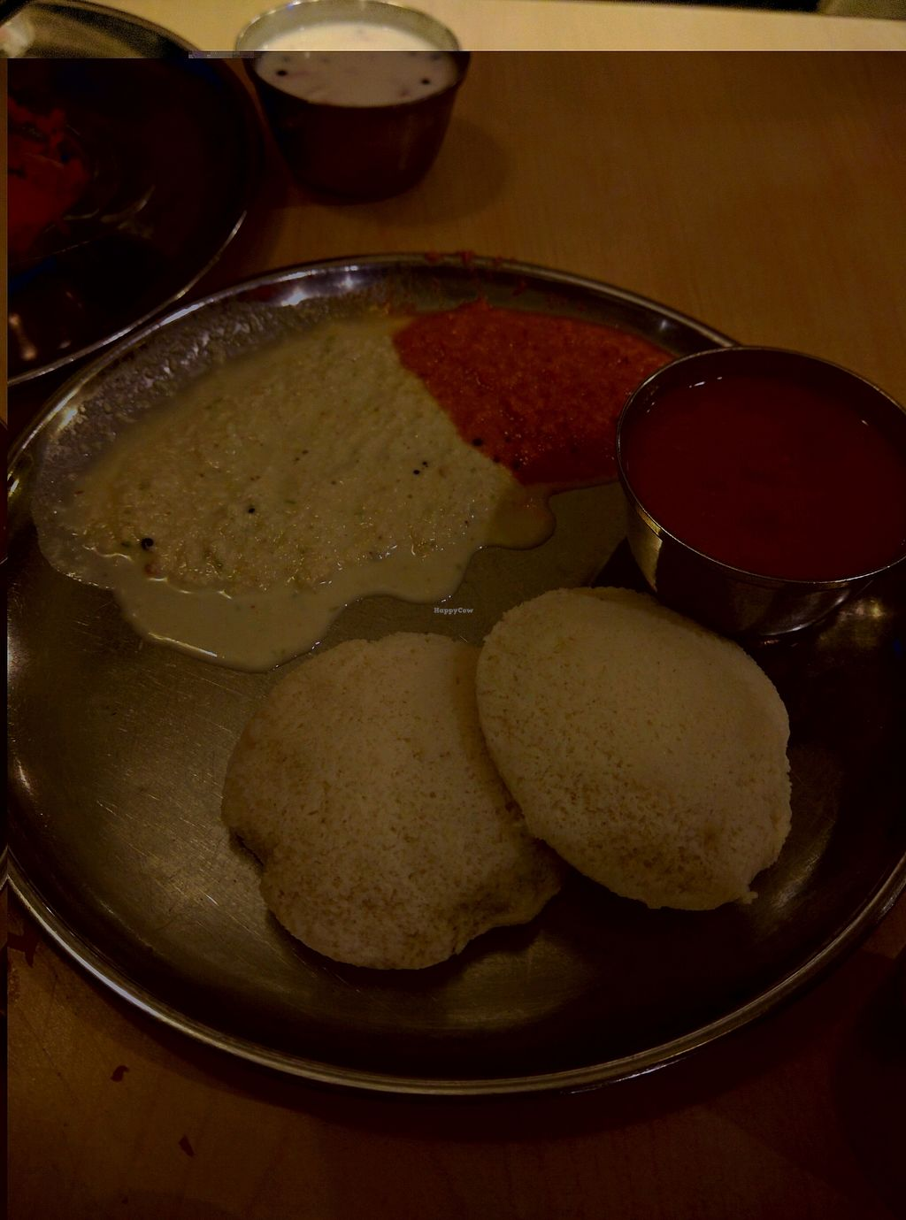 """Photo of Woodlands  by <a href=""""/members/profile/Summer_Tan"""">Summer_Tan</a> <br/>Idly - RM2.50 Steamed rice and lentil patties served with chutney and sambar The patties just melts in your mouth, nice and fluffy. The sauces are coconut and spicy sambar which are well balanced <br/> January 29, 2018  - <a href='/contact/abuse/image/141/352503'>Report</a>"""