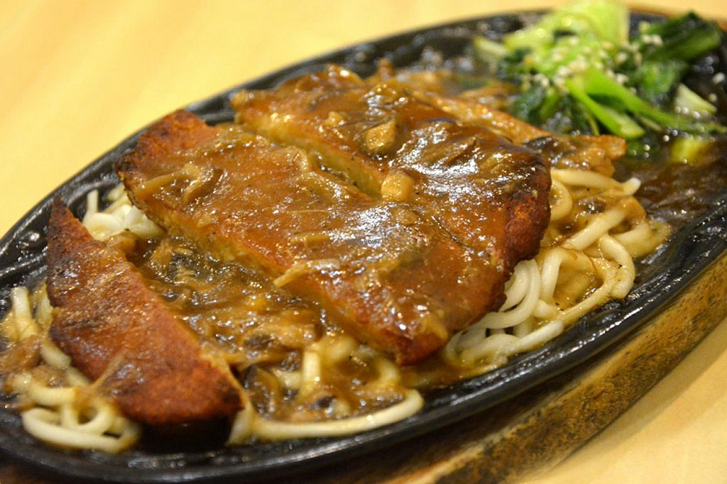 """Photo of Daily Veggie N' Cafe  by <a href=""""/members/profile/konserns"""">konserns</a> <br/>Sizzling steak noodles <br/> January 24, 2015  - <a href='/contact/abuse/image/160/91307'>Report</a>"""