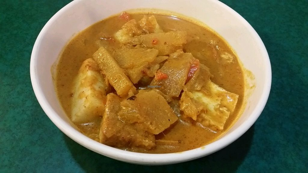 """Photo of Ci Yan Vegetarian Health Food  by <a href=""""/members/profile/JimmySeah"""">JimmySeah</a> <br/>Lontong - rice cake with curry gravy <br/> November 8, 2017  - <a href='/contact/abuse/image/182/323329'>Report</a>"""