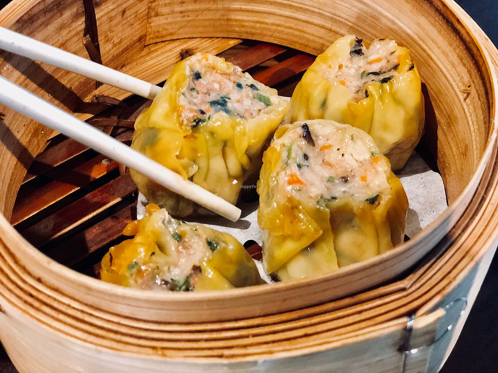 """Photo of Divine Realm Vegetarian Restaurant  by <a href=""""/members/profile/CherylQuincy"""">CherylQuincy</a> <br/>Siew Mai <br/> January 18, 2018  - <a href='/contact/abuse/image/185/347887'>Report</a>"""