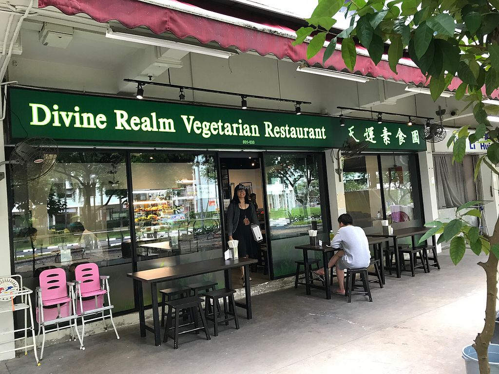 """Photo of Divine Realm Vegetarian Restaurant  by <a href=""""/members/profile/Sweetveganneko"""">Sweetveganneko</a> <br/>Shop front  <br/> March 5, 2018  - <a href='/contact/abuse/image/185/367127'>Report</a>"""