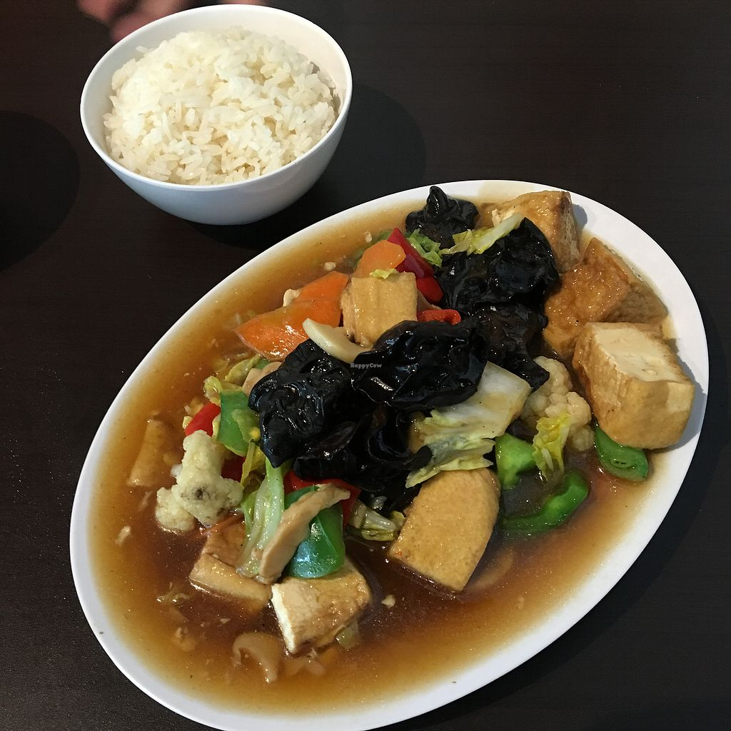 """Photo of Divine Realm Vegetarian Restaurant  by <a href=""""/members/profile/breakfastparadise"""">breakfastparadise</a> <br/>红烧豆腐 <br/> March 21, 2018  - <a href='/contact/abuse/image/185/373546'>Report</a>"""