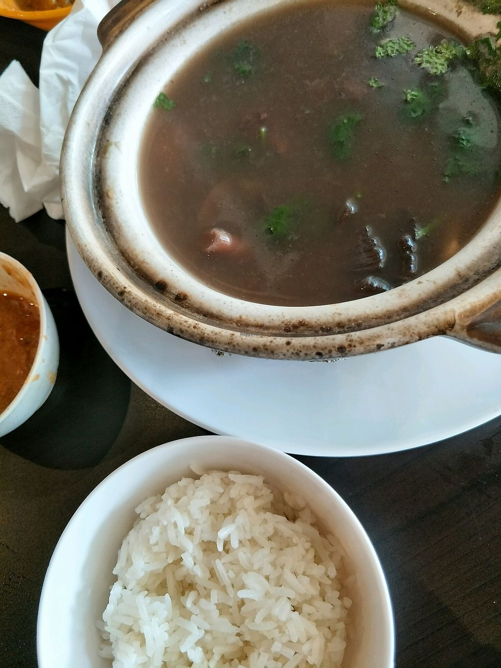 """Photo of Divine Realm Vegetarian Restaurant  by <a href=""""/members/profile/IvyTeng"""">IvyTeng</a> <br/>Black bean soup  <br/> March 22, 2018  - <a href='/contact/abuse/image/185/374229'>Report</a>"""
