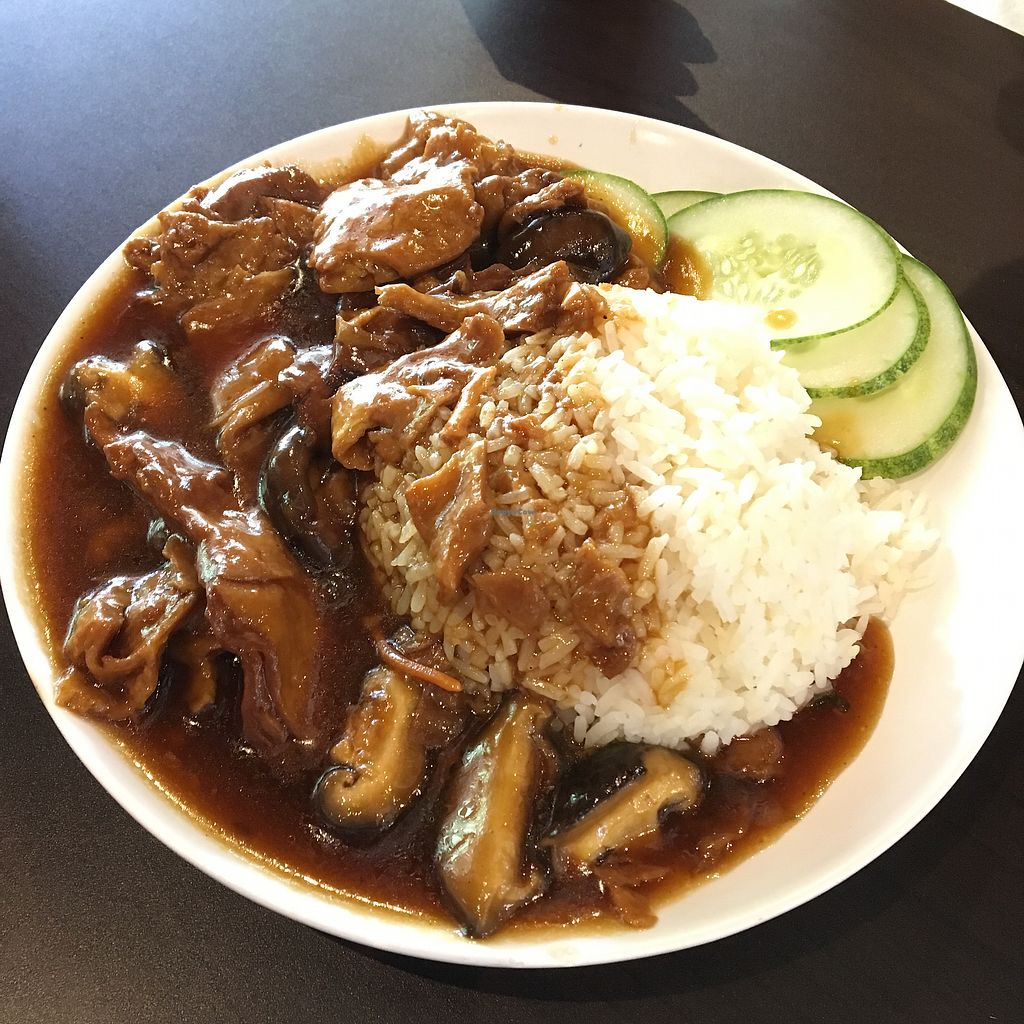 """Photo of Divine Realm Vegetarian Restaurant  by <a href=""""/members/profile/breakfastparadise"""">breakfastparadise</a> <br/>Vegetarian duck rice <br/> March 23, 2018  - <a href='/contact/abuse/image/185/374701'>Report</a>"""