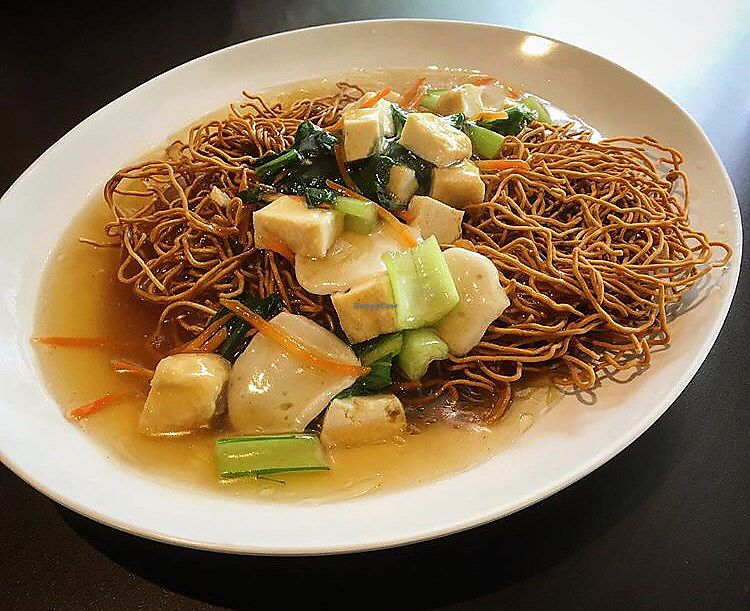 """Photo of Divine Realm Vegetarian Restaurant  by <a href=""""/members/profile/breakfastparadise"""">breakfastparadise</a> <br/>Crispy noodles <br/> March 24, 2018  - <a href='/contact/abuse/image/185/375162'>Report</a>"""