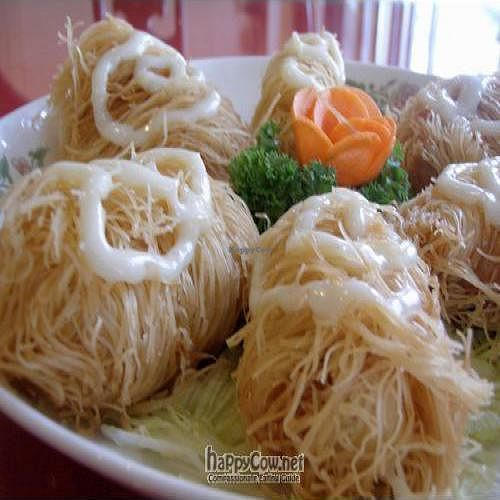 """Photo of Fo You Yuan Vegetarian  by <a href=""""/members/profile/Peace%20..."""">Peace ...</a> <br/>Imperial Vegetarian Cocoon (Mango with Mock Ham wrapped with Rice Vermicelli and deep-fried, serves with Mayo <br/> March 14, 2010  - <a href='/contact/abuse/image/190/4018'>Report</a>"""