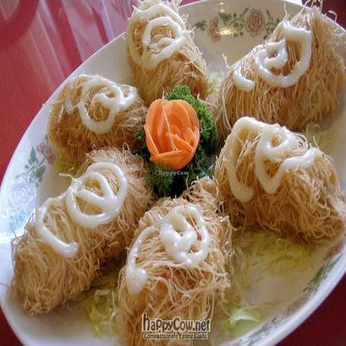 """Photo of Fo You Yuan Vegetarian  by <a href=""""/members/profile/Peace%20..."""">Peace ...</a> <br/>Imperial Vegetarian Cocoon (Mango with Mock Ham wrapped with Rice Vermicelli and deep-fried, serves with Mayo <br/> March 14, 2010  - <a href='/contact/abuse/image/190/4019'>Report</a>"""