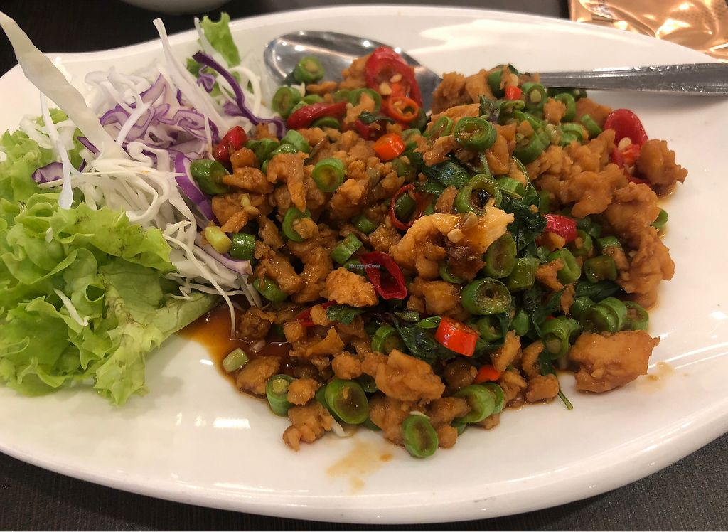 "Photo of Greenland Vegetarian Restaurant  by <a href=""/members/profile/AmyLeySzeThoo"">AmyLeySzeThoo</a> <br/>Veg Minced Pork with Basil Leave <br/> April 10, 2018  - <a href='/contact/abuse/image/196/383109'>Report</a>"