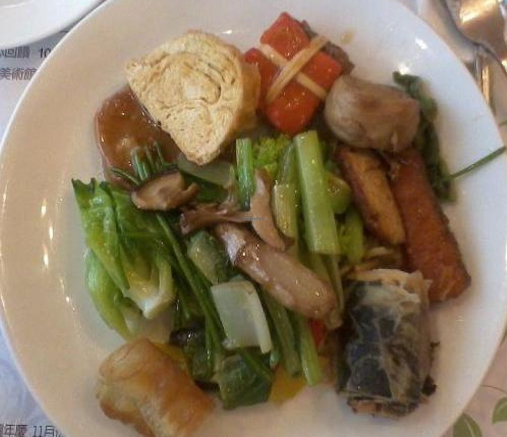"""Photo of Seng Hua Gong - Saint Lotus Vegetarian - Taichung Art Museum  by <a href=""""/members/profile/cvxmelody"""">cvxmelody</a> <br/>Another plate of food <br/> November 14, 2011  - <a href='/contact/abuse/image/277/194042'>Report</a>"""
