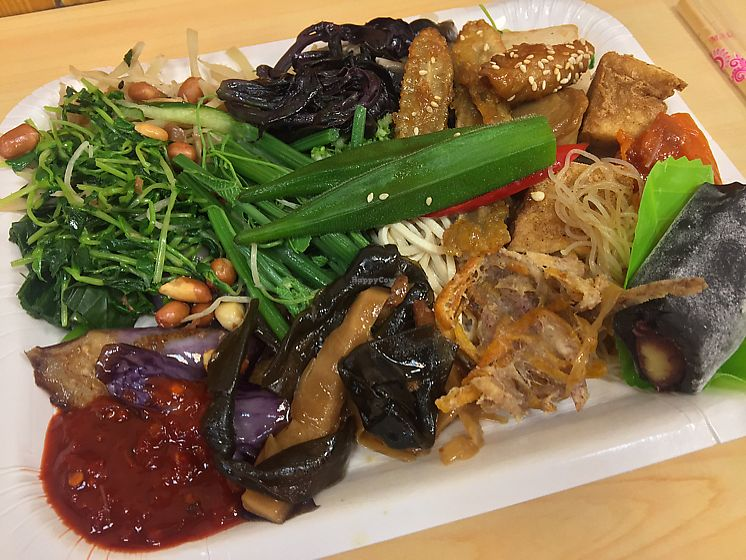 """Photo of Sun Like Restaurant  by <a href=""""/members/profile/KerriOnotera"""">KerriOnotera</a> <br/>Veggie buffet- 140 TWD <br/> June 11, 2017  - <a href='/contact/abuse/image/300/267953'>Report</a>"""