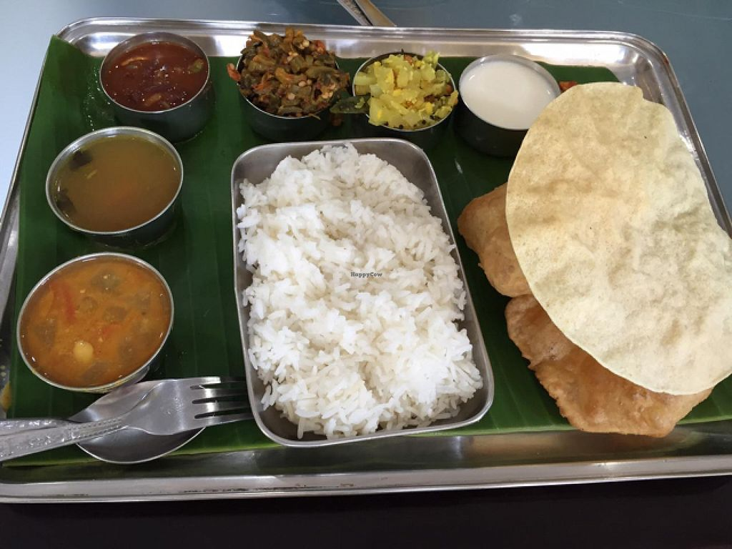 "Photo of Chennai Kitchen  by <a href=""/members/profile/Jrosworld"">Jrosworld</a> <br/>South Indian Thali, 150 baht <br/> February 10, 2015  - <a href='/contact/abuse/image/332/92719'>Report</a>"