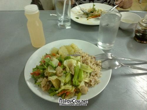 "Photo of Suan-Plu Mangsawirat  by <a href=""/members/profile/Dominick"">Dominick</a> <br/>Breakfast 05/06/2012  Green curry, Spicy salad, and tofu/veg with lemongrass and lime juice drink <br/> June 5, 2012  - <a href='/contact/abuse/image/342/32783'>Report</a>"