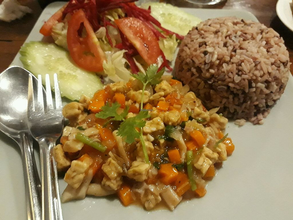 """Photo of Aum  by <a href=""""/members/profile/LilacHippy"""">LilacHippy</a> <br/>Brown rice with tempeh, herbs and veggies <br/> September 25, 2017  - <a href='/contact/abuse/image/360/308063'>Report</a>"""