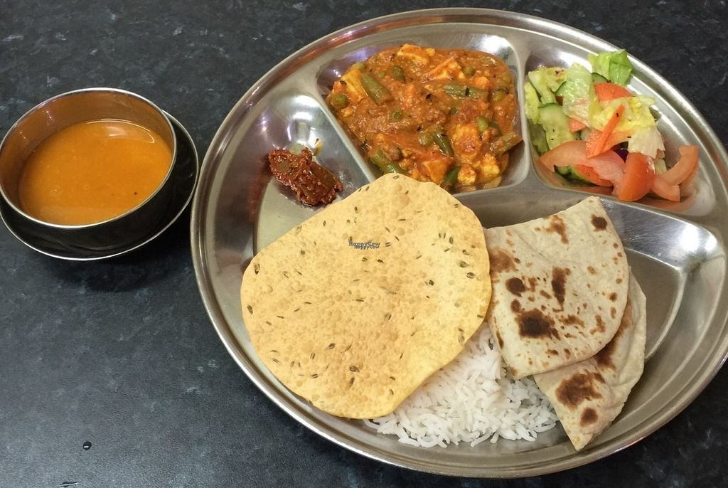 """Photo of Mukunda's Kitchen  by <a href=""""/members/profile/Raj%20Parbhu"""">Raj Parbhu</a> <br/>Thali <br/> September 5, 2016  - <a href='/contact/abuse/image/397/173877'>Report</a>"""