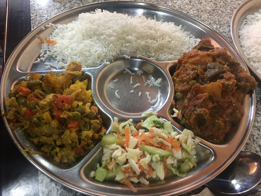 "Photo of Rasoi Vegetarian Restaurant  by <a href=""/members/profile/Tiggy"">Tiggy</a> <br/>Rani Thali with cauliflower and eggplant curries $12.50 <br/> December 29, 2017  - <a href='/contact/abuse/image/400/340346'>Report</a>"
