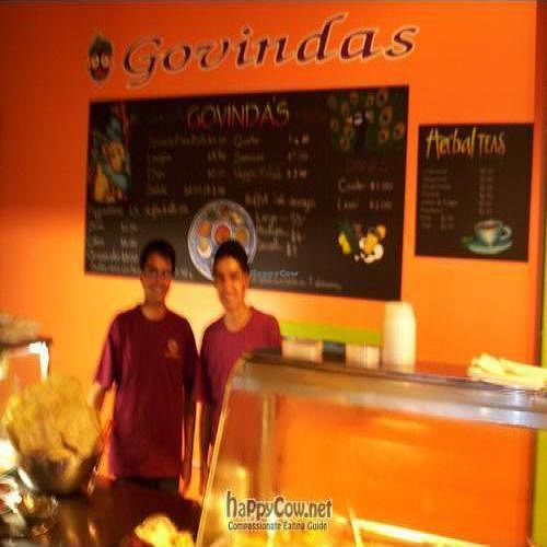 "Photo of Govinda's - CBD  by <a href=""/members/profile/vegan_simon"">vegan_simon</a> <br/>2009 old location - staff <br/> August 26, 2009  - <a href='/contact/abuse/image/433/2509'>Report</a>"