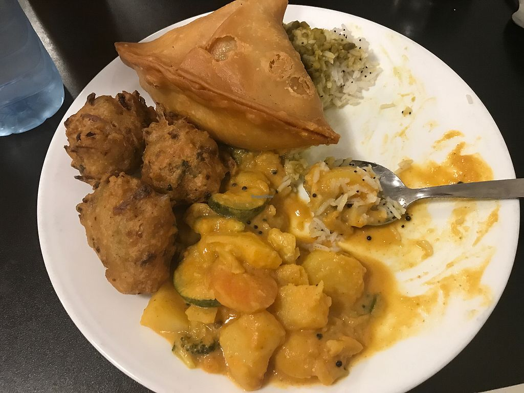 "Photo of Govinda's - CBD  by <a href=""/members/profile/Anita_Gray"">Anita_Gray</a> <br/>Vegan koftas, lentil curry, potato curry & samosas  <br/> August 12, 2017  - <a href='/contact/abuse/image/433/291868'>Report</a>"