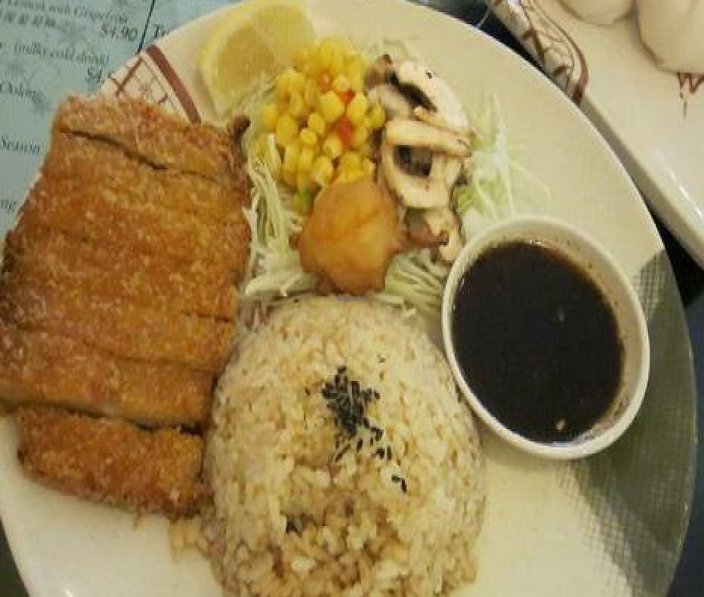 """Photo of Thea Vegetarian Tea Garden  by <a href=""""/members/profile/MaitreyaBelmore"""">MaitreyaBelmore</a> <br/>Hainanese Vegetarian Chicken Rice <br/> May 9, 2010  - <a href='/contact/abuse/image/455/254830'>Report</a>"""