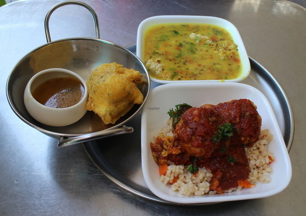 """Photo of Cardamom Pod  by <a href=""""/members/profile/necius"""">necius</a> <br/>Dhal, kofta, and pakora at Cardamom Pod <br/> November 22, 2016  - <a href='/contact/abuse/image/467/193051'>Report</a>"""