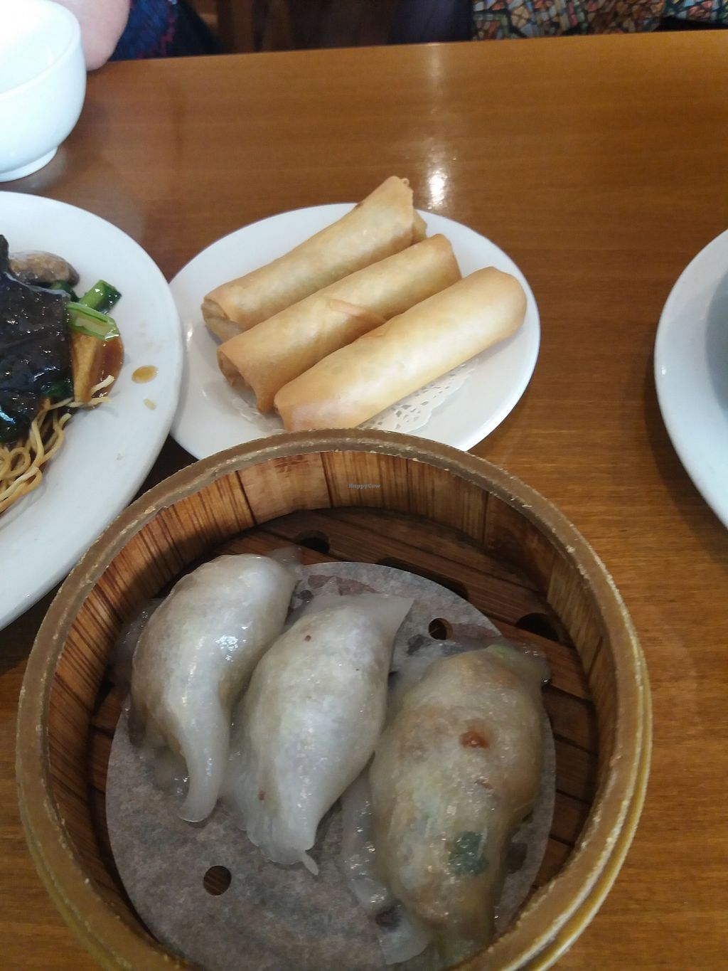 "Photo of Green Gourmet  by <a href=""/members/profile/veganvirtues"">veganvirtues</a> <br/>Fried spring rools and steamed dumplings <br/> September 17, 2017  - <a href='/contact/abuse/image/482/305288'>Report</a>"
