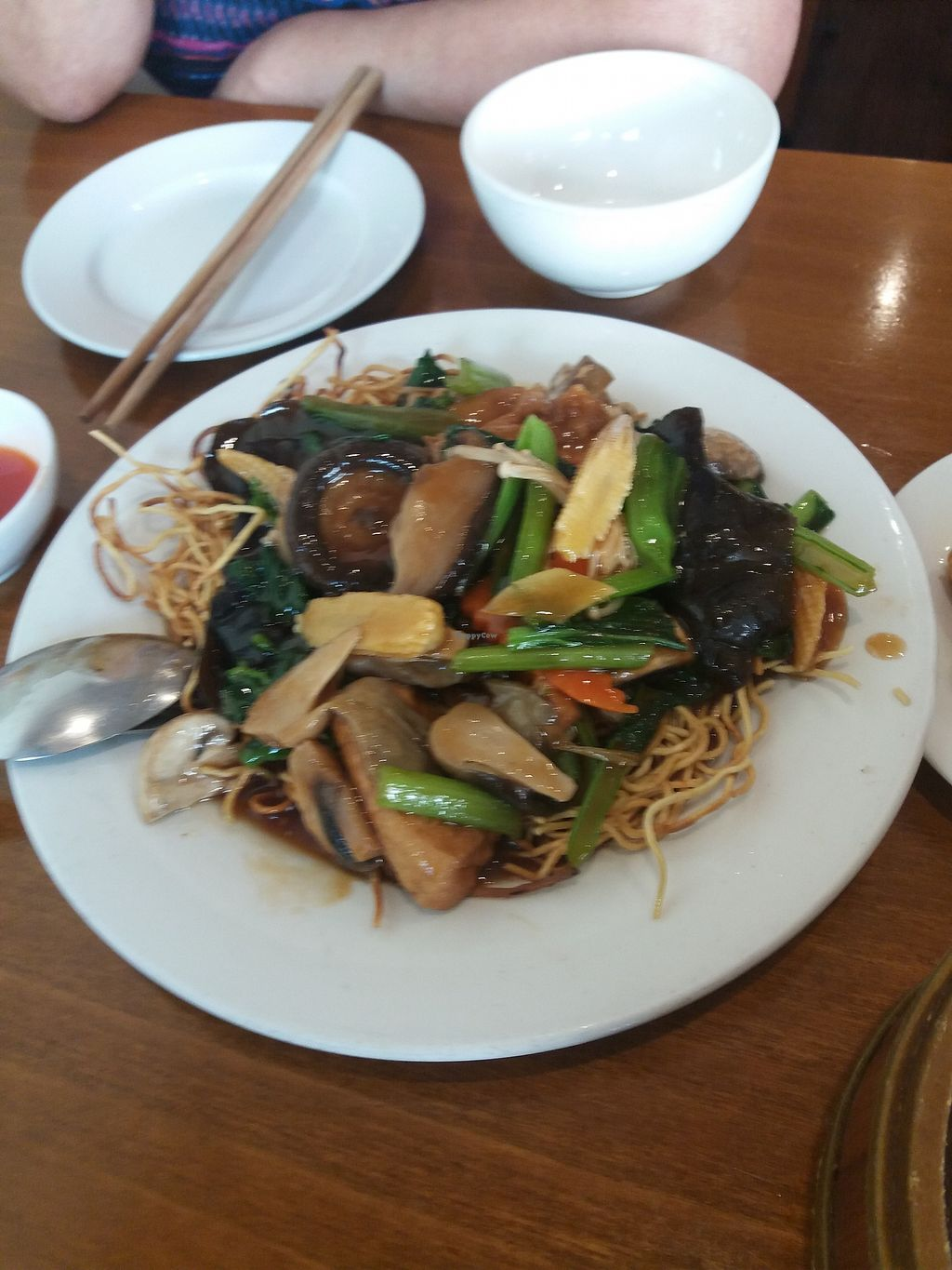 "Photo of Green Gourmet  by <a href=""/members/profile/veganvirtues"">veganvirtues</a> <br/>Spring vegs and crispy noodles <br/> September 25, 2017  - <a href='/contact/abuse/image/482/308114'>Report</a>"
