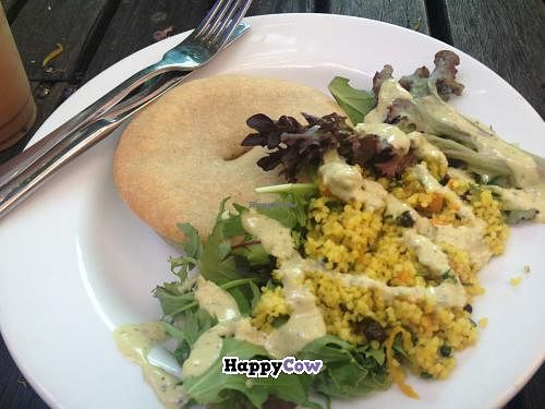 """Photo of Iku Wholefood Kitchen  by <a href=""""/members/profile/Moix"""">Moix</a> <br/>Adzuki Bean Pie w/ Salad & Tahini Dressing <br/> November 13, 2013  - <a href='/contact/abuse/image/487/58455'>Report</a>"""