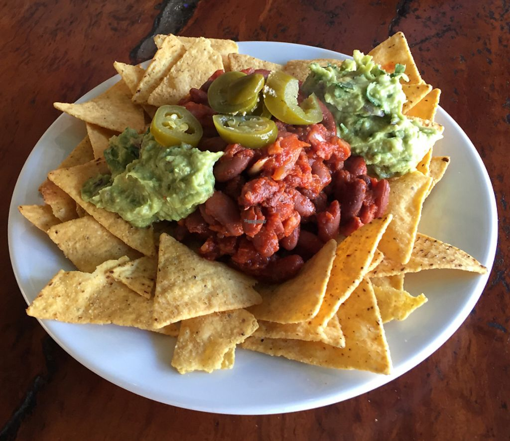 """Photo of Laurie's Vegetarian Take Away  by <a href=""""/members/profile/Wuji_Luiji"""">Wuji_Luiji</a> <br/>Vegan nachos  <br/> October 25, 2016  - <a href='/contact/abuse/image/492/248807'>Report</a>"""