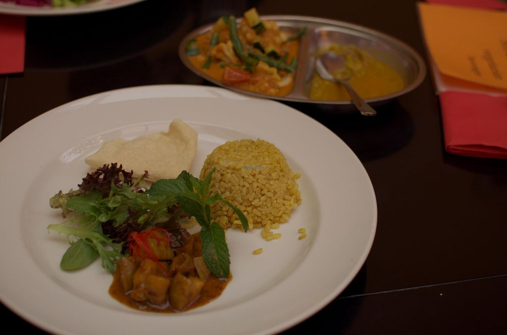 """Photo of Shakahari  by <a href=""""/members/profile/chocoholicPhilosophe"""">chocoholicPhilosophe</a> <br/>Nonya Curry (both plates are part of the dish) <br/> February 9, 2016  - <a href='/contact/abuse/image/518/135548'>Report</a>"""