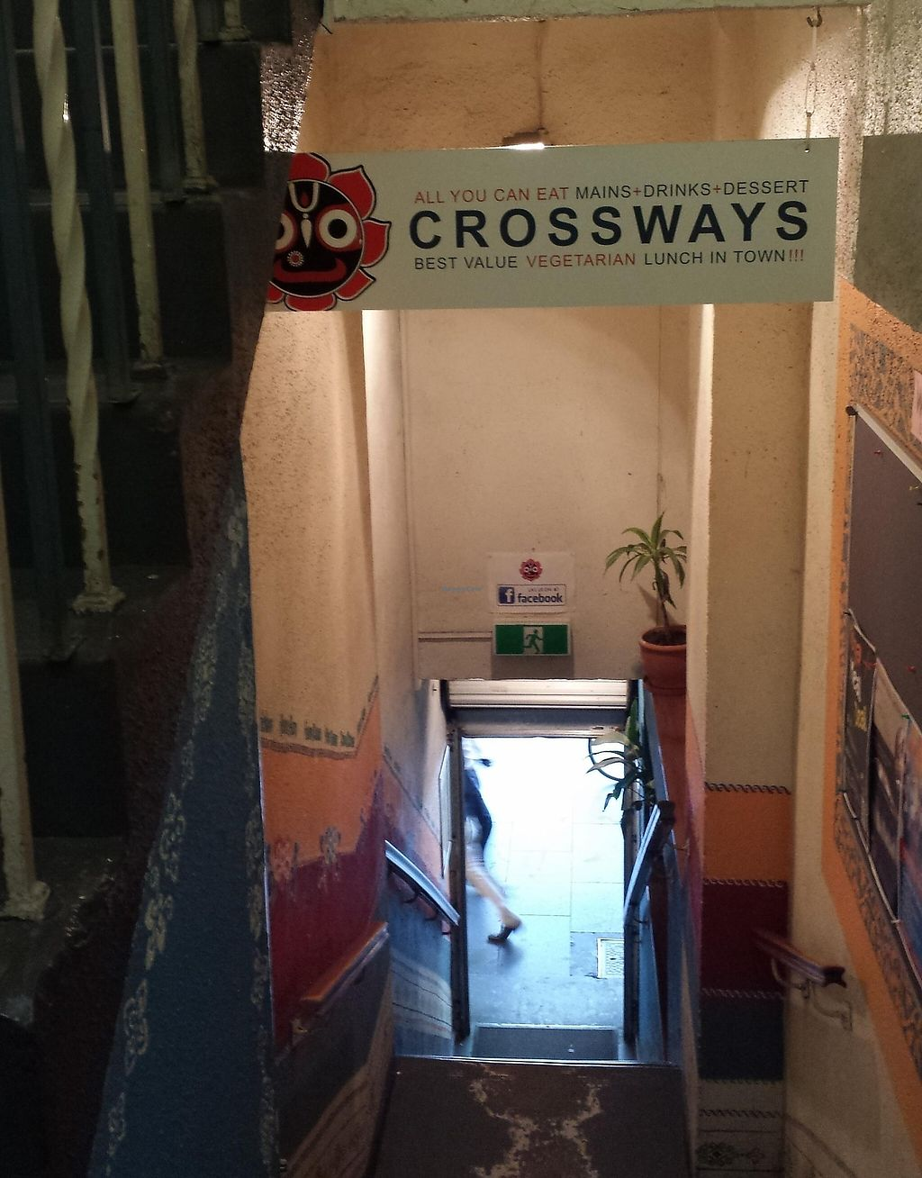 """Photo of Crossways  by <a href=""""/members/profile/Aloo"""">Aloo</a> <br/>Convenient location on Swanston street, up the stairs <br/> March 3, 2016  - <a href='/contact/abuse/image/533/260064'>Report</a>"""