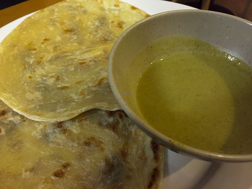 """Photo of Global Vegetarian - Ormond  by <a href=""""/members/profile/karlaess"""">karlaess</a> <br/>Roti with Curry Sauce <br/> August 8, 2015  - <a href='/contact/abuse/image/535/112743'>Report</a>"""