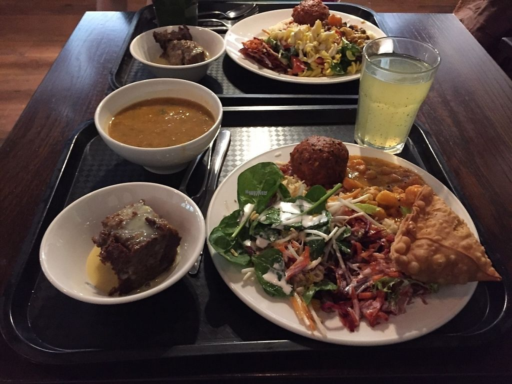 "Photo of Gopal's  by <a href=""/members/profile/Wuji_Luiji"">Wuji_Luiji</a> <br/>Feast! Soup, kofta, curry, salads, sticky date pudding and a drink (all vegan) and a vegan samosa <br/> December 14, 2016  - <a href='/contact/abuse/image/536/200941'>Report</a>"