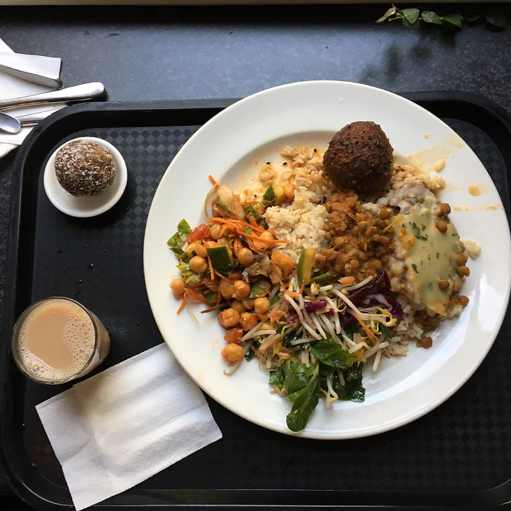 "Photo of Gopal's  by <a href=""/members/profile/Spaghetti_monster"">Spaghetti_monster</a> <br/>vegan platter (lentil ball, shepherds pie, salads, bliss ball, chai) <br/> May 8, 2017  - <a href='/contact/abuse/image/536/260056'>Report</a>"