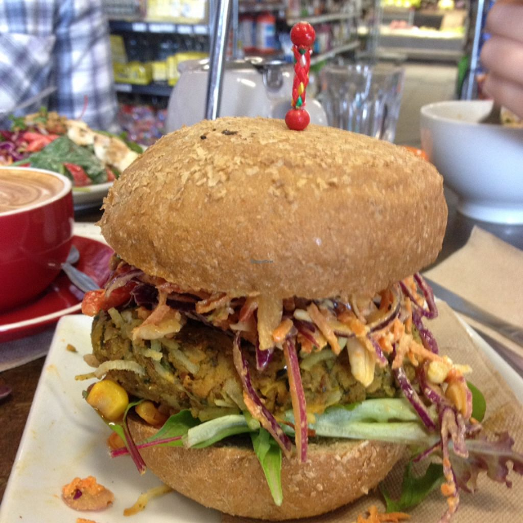 "Photo of Manna Wholefoods Cafe  by <a href=""/members/profile/grace.avo"">grace.avo</a> <br/>Kale and Sweet Potato Vegan Burger <br/> April 17, 2016  - <a href='/contact/abuse/image/566/145054'>Report</a>"