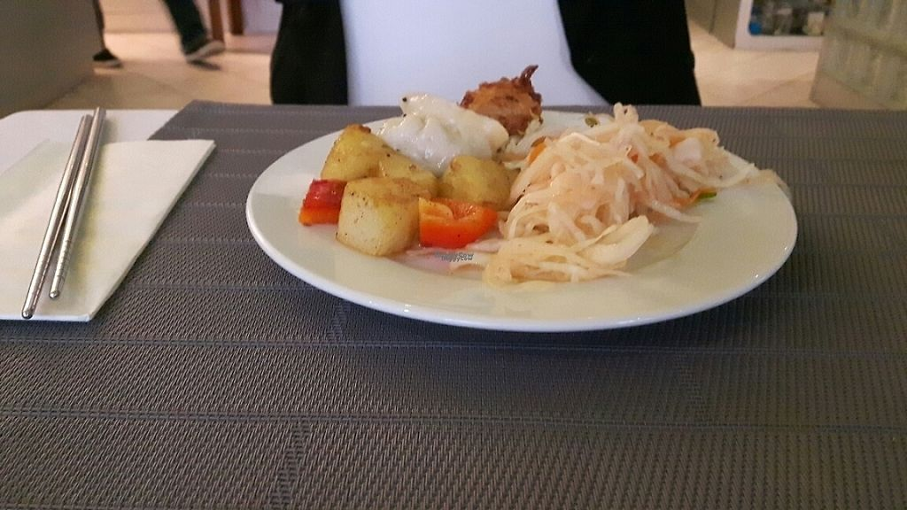 """Photo of Vegetasia  by <a href=""""/members/profile/UlliBulli"""">UlliBulli</a> <br/>spicy salad and potatoes from the buffet <br/> January 28, 2017  - <a href='/contact/abuse/image/579/218162'>Report</a>"""