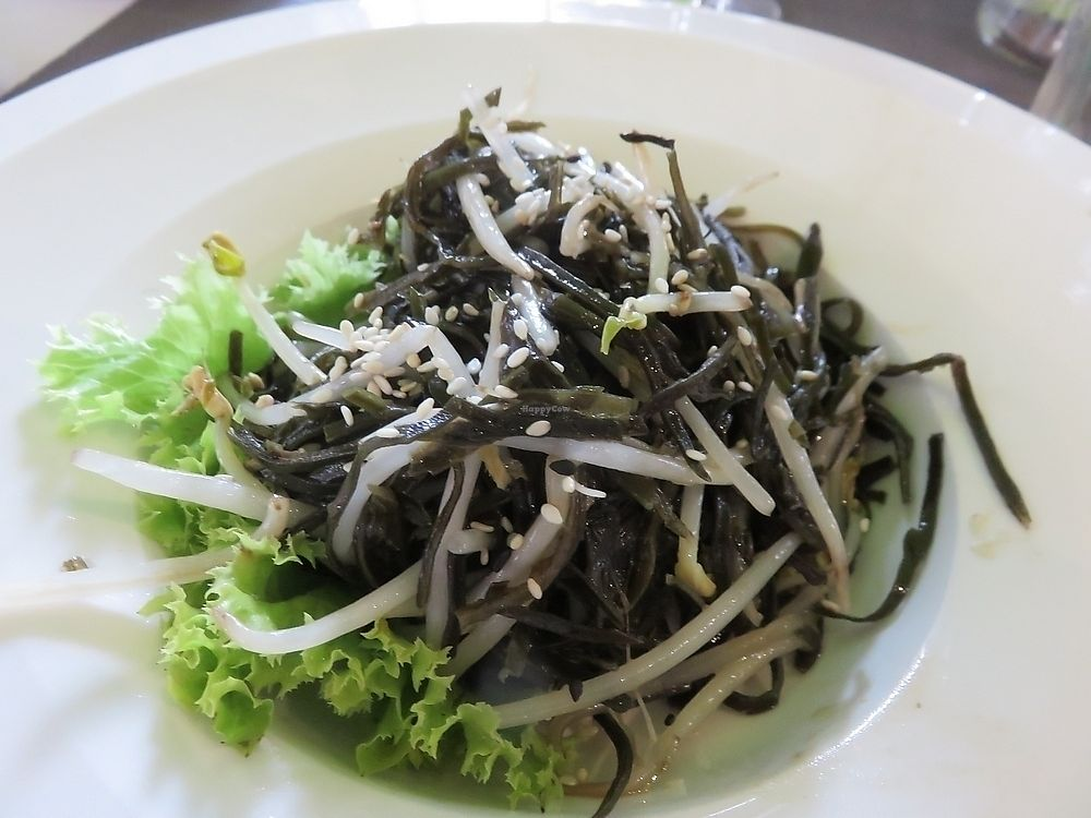 """Photo of Vegetasia  by <a href=""""/members/profile/TrudiBruges"""">TrudiBruges</a> <br/>algae dish at Vegetasia, hardly fried <br/> November 21, 2017  - <a href='/contact/abuse/image/579/327739'>Report</a>"""