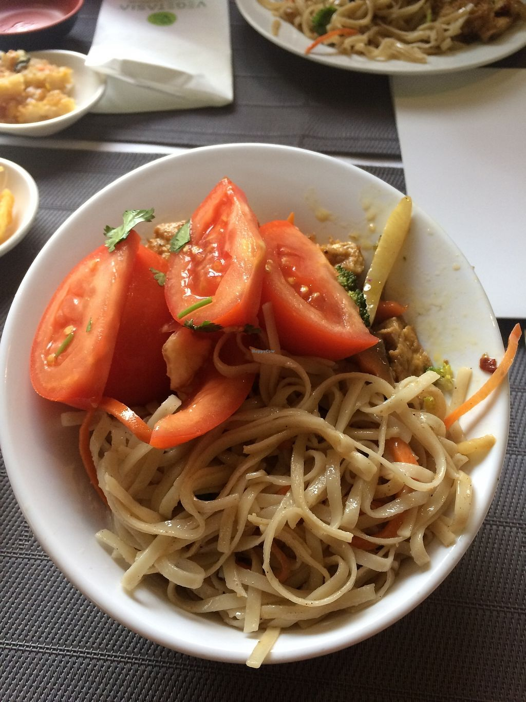 """Photo of Vegetasia  by <a href=""""/members/profile/AnetaB%C3%A1rtov%C3%A1"""">AnetaBártová</a> <br/>First plate - noodles (with great kind of creamy sauce), some veggies and under all of this is tofu, more veggies and potatoes.  <br/> December 31, 2017  - <a href='/contact/abuse/image/579/341287'>Report</a>"""
