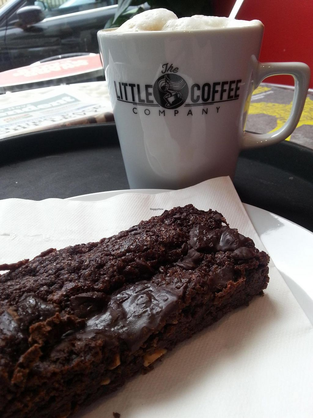 """Photo of CLOSED: The Little Coffee Company  by <a href=""""/members/profile/Miggi"""">Miggi</a> <br/>vegan peanut butter brownie <br/> March 19, 2015  - <a href='/contact/abuse/image/620/96155'>Report</a>"""