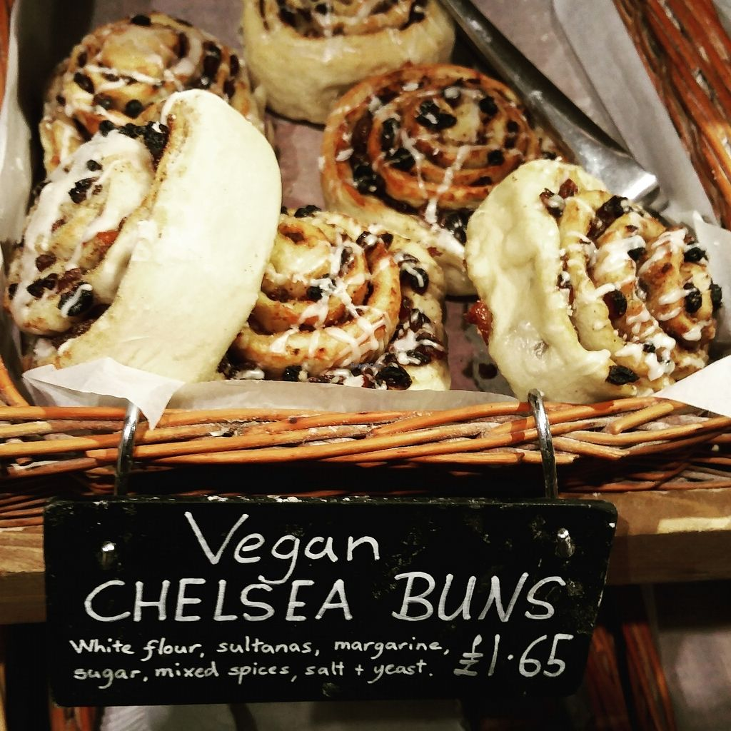 "Photo of Infinity Foods  by <a href=""/members/profile/TrudiBruges"">TrudiBruges</a> <br/>vegan chelsea buns, Infinity Foods, Brighton <br/> November 28, 2017  - <a href='/contact/abuse/image/628/330117'>Report</a>"