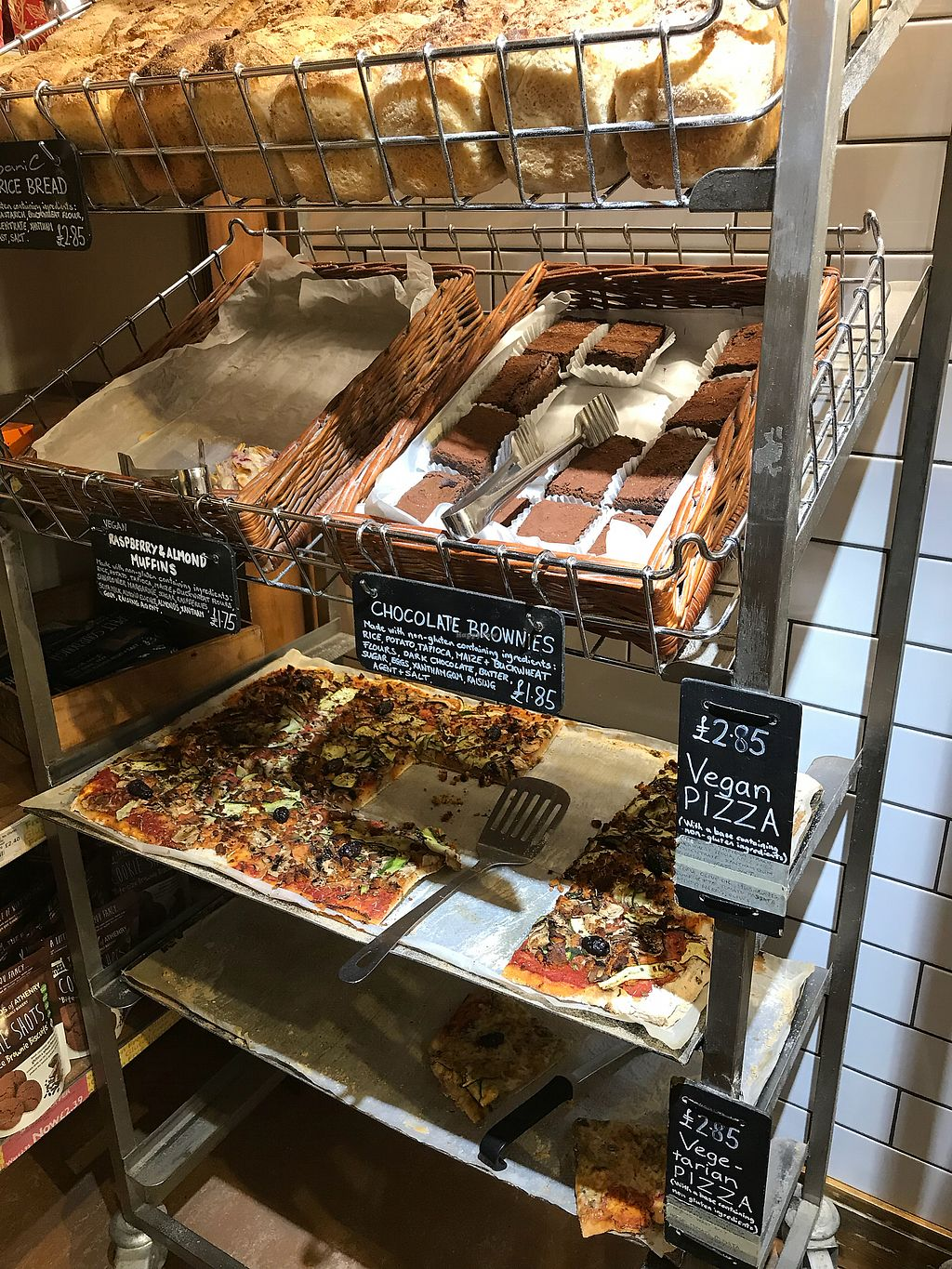 "Photo of Infinity Foods  by <a href=""/members/profile/VickiWanSlattery"">VickiWanSlattery</a> <br/>Vegan pizza in a shop bakery!  <br/> March 17, 2018  - <a href='/contact/abuse/image/628/371971'>Report</a>"