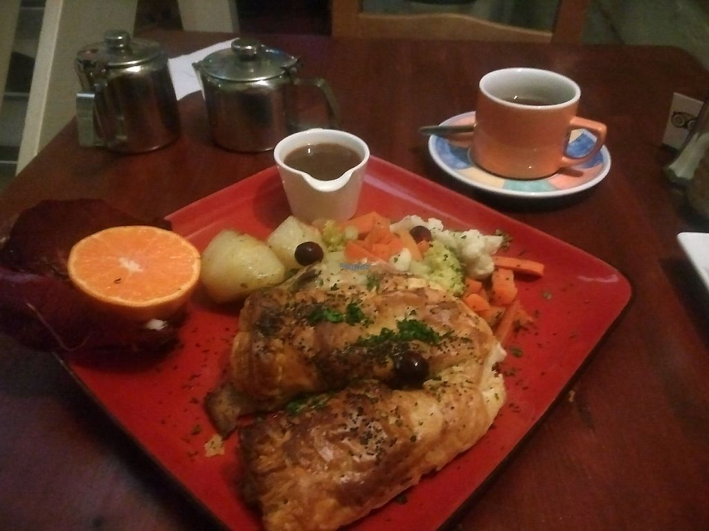 """Photo of Rainbow Vegetarian Cafe  by <a href=""""/members/profile/Ryecatcher"""">Ryecatcher</a> <br/>Christmas dish <br/> December 23, 2016  - <a href='/contact/abuse/image/630/204348'>Report</a>"""