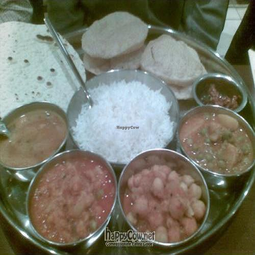 """Photo of Jyoti's Vegetarian  by <a href=""""/members/profile/cooking4vegans"""">cooking4vegans</a> <br/>Chef's special Thali <br/> January 9, 2010  - <a href='/contact/abuse/image/637/3318'>Report</a>"""